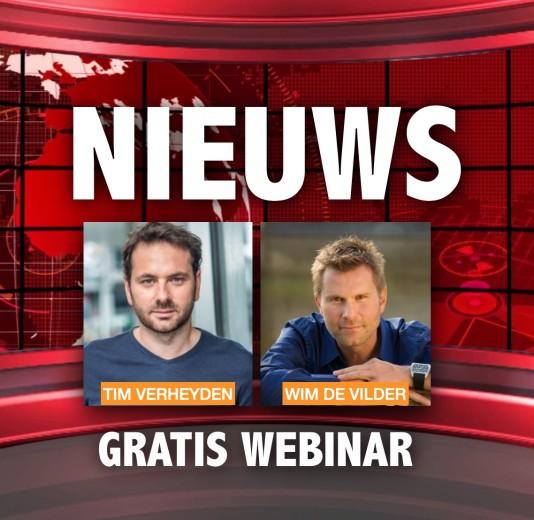 Gratis webinar met Wim De Vilder en Tim Verheyden